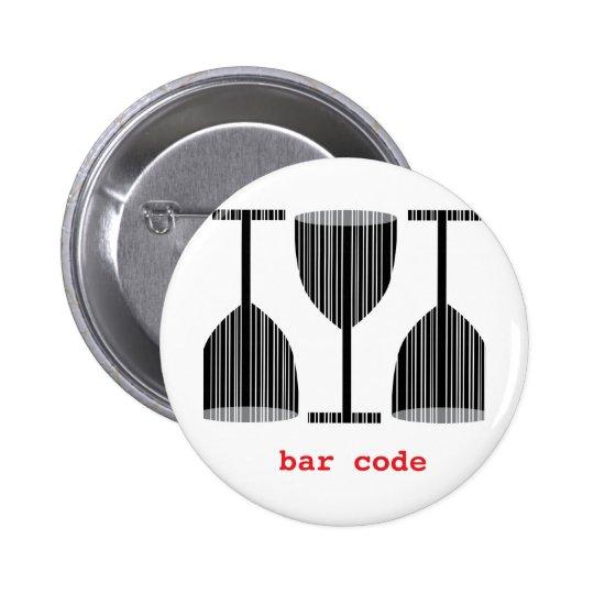Bar Code Wine Glass Button