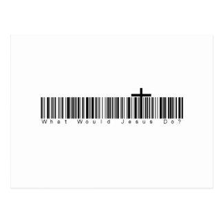 Bar Code WWJD Postcard