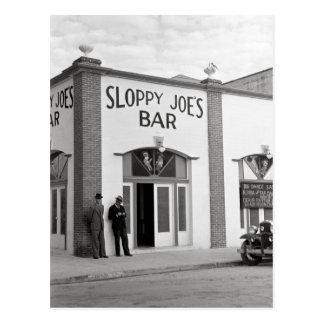 Bar de Joe descuidado, 1938 Tarjeta Postal