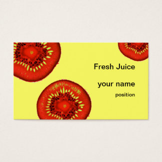 bar de zumos orgánico de las rebanadas de los tarjeta de negocios