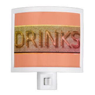 """Bar"" Drinks*_Peach Night Light"