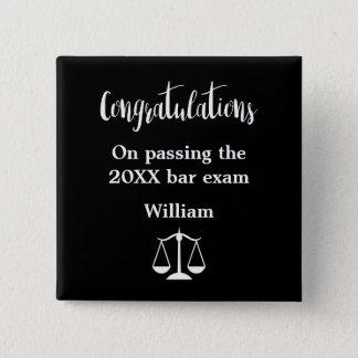 Bar Exam Graduation Button Pins