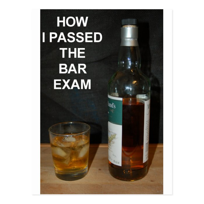 Bar Exam Postcard