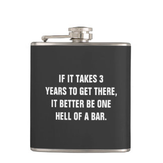 Bar Exam Vinyl Wrapped Flask