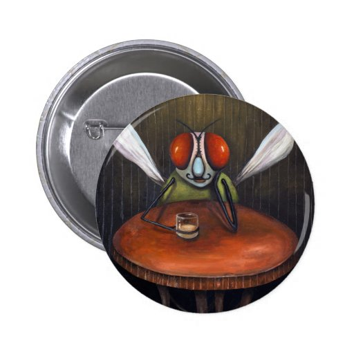 Bar Fly Pinback Buttons