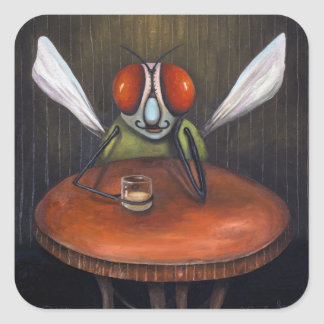 Bar Fly Square Sticker