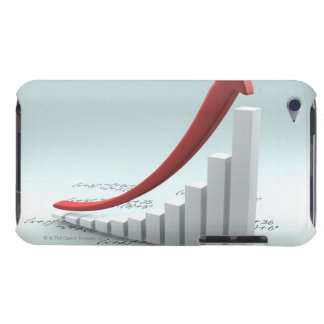 Bar graph and arrow with formula barely there iPod case