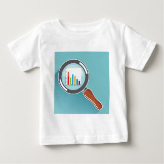 Bar Graph in Magnifying Glass Baby T-Shirt