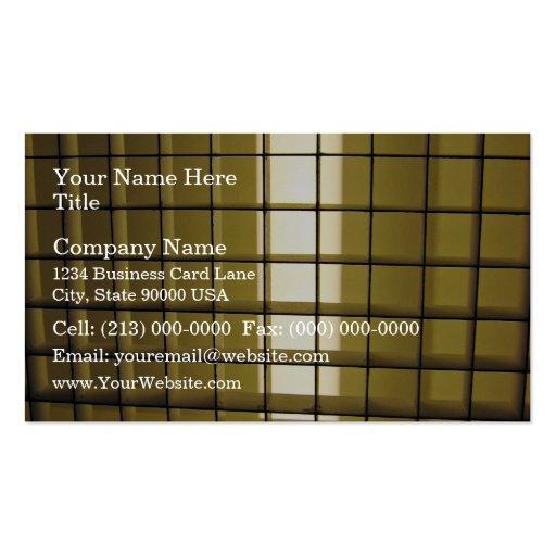 Bar grid business card