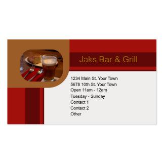 Bar & Grill Business Card Templates