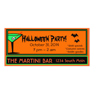 Bar Halloween Party Rack Card