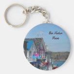 Bar Harbor, Maine Basic Round Button Keychain