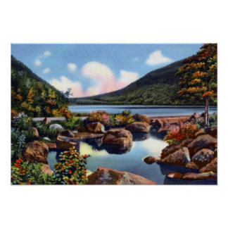 Bar Harbor Maine Bubble Pond Acadia National Park Poster