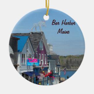 Bar Harbor, Maine Ceramic Ornament