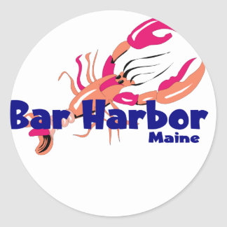 Bar Harbor, Maine Classic Round Sticker