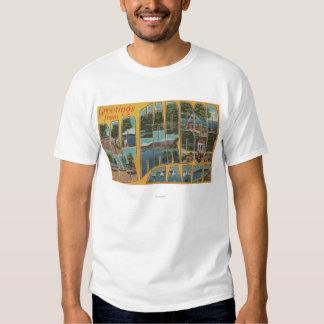 Bar Harbor, Maine - Large Letter Scenes T-shirt