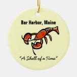 Bar Harbor, Maine Lobster Christmas Ornaments