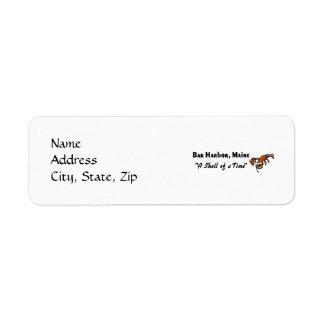 Bar Harbor, Maine Lobster Label