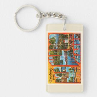 Bar Harbor Maine ME Old Vintage Travel Souvenir Keychain
