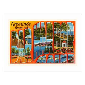 Bar Harbor Maine ME Old Vintage Travel Souvenir Postcard