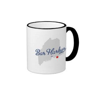 Bar Harbor Maine ME Shirt Ringer Coffee Mug