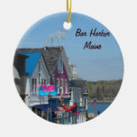 Bar Harbor, Maine Double-Sided Ceramic Round Christmas Ornament