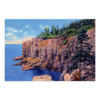 Bar Harbor Maine Otter Cliffs Acadia National Park Poster