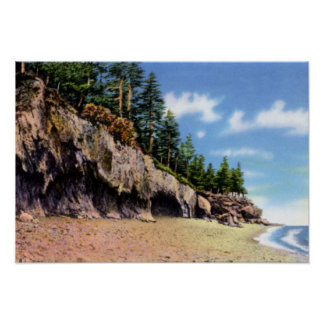 Bar Harbor Maine The Ovens Acadia National Park Poster