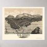 Bar Harbor, ME Panoramic Map - 1886 Posters