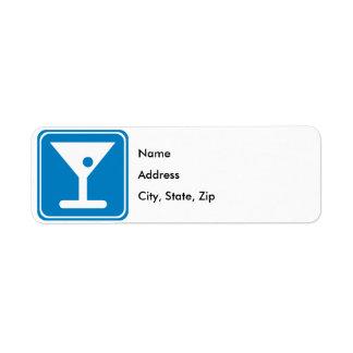 Bar Highway Sign Label