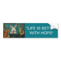 Bar Hopping Bumper Sticker