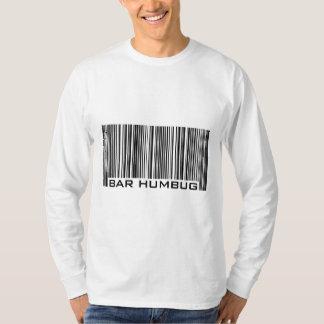 Bar Humbug (Bah Humbug) Anti-Christmas Bar Code Shirt