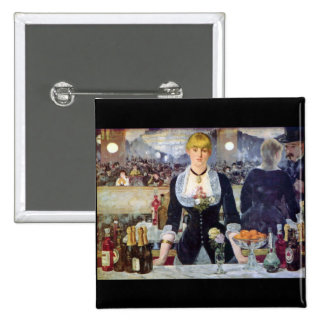 Bar in the Folies-Bergere by Edouard Manet 2 Inch Square Button