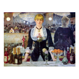 Bar in the Folies-Bergere by Edouard Manet Postcard