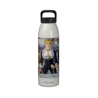 Bar in the Folies-Bergere by Edouard Manet Water Bottle