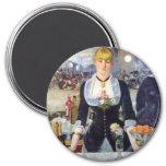 Bar In The Folies-Bergere by Manet Painting Refrigerator Magnets