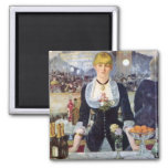 Bar In The Folies-Bergere by Manet Painting Magnet
