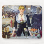 Bar In The Folies-Bergere by Manet Painting Mousepads