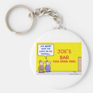bar kids drink free keychain