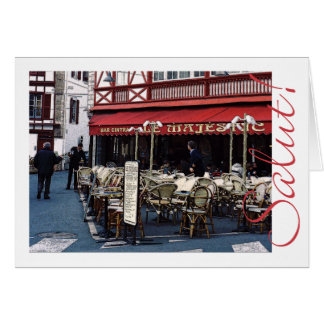 bar Le Majestic, mid winter Greeting Card