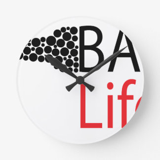 Bar Life Wear Round Clock