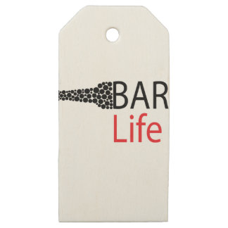 Bar Life Wear Wooden Gift Tags