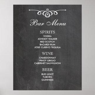 BAR MENU  big sign | chalkboard | wedding bar