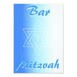 Bar Mitzva Invitation with star of David and chai