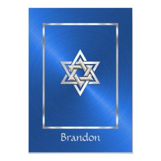 Bar Mitzvah 15 Colors Star of David Invitation