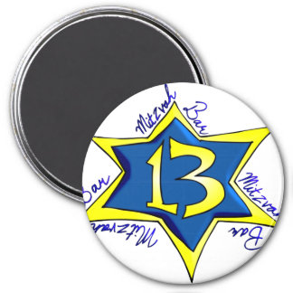 Bar MItzvah 3 Inch Round Magnet