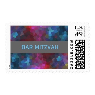 Bar Mitzvah Abstract Design Postage Stamp