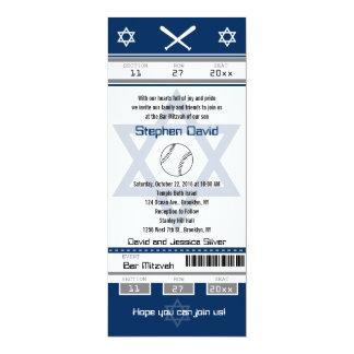 Bar Mitzvah Baseball Ticket Invitation