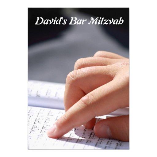Bar Mitzvah/Bat Mitzvah Personalized Announcement