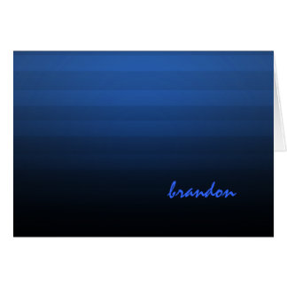 Bar Mitzvah Blue and Black Horizontal Stripe Card